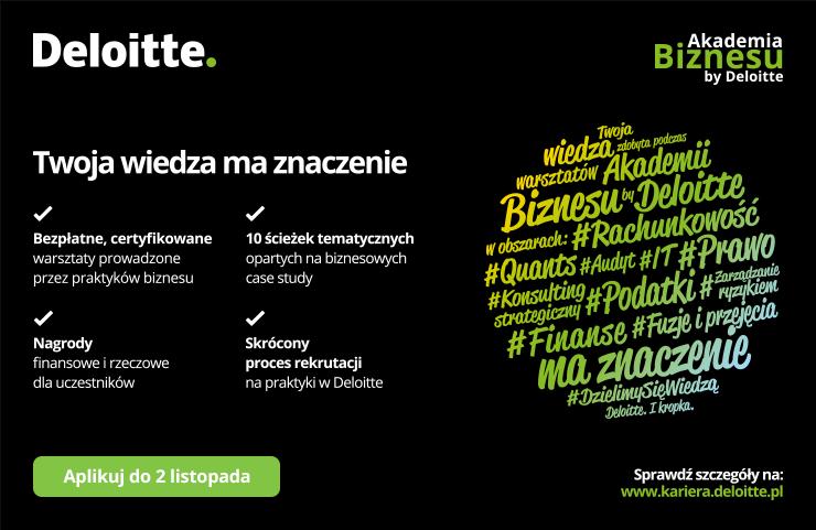 W dziewięciu miastach Polski startuje Akademia Biznesu Deloitte