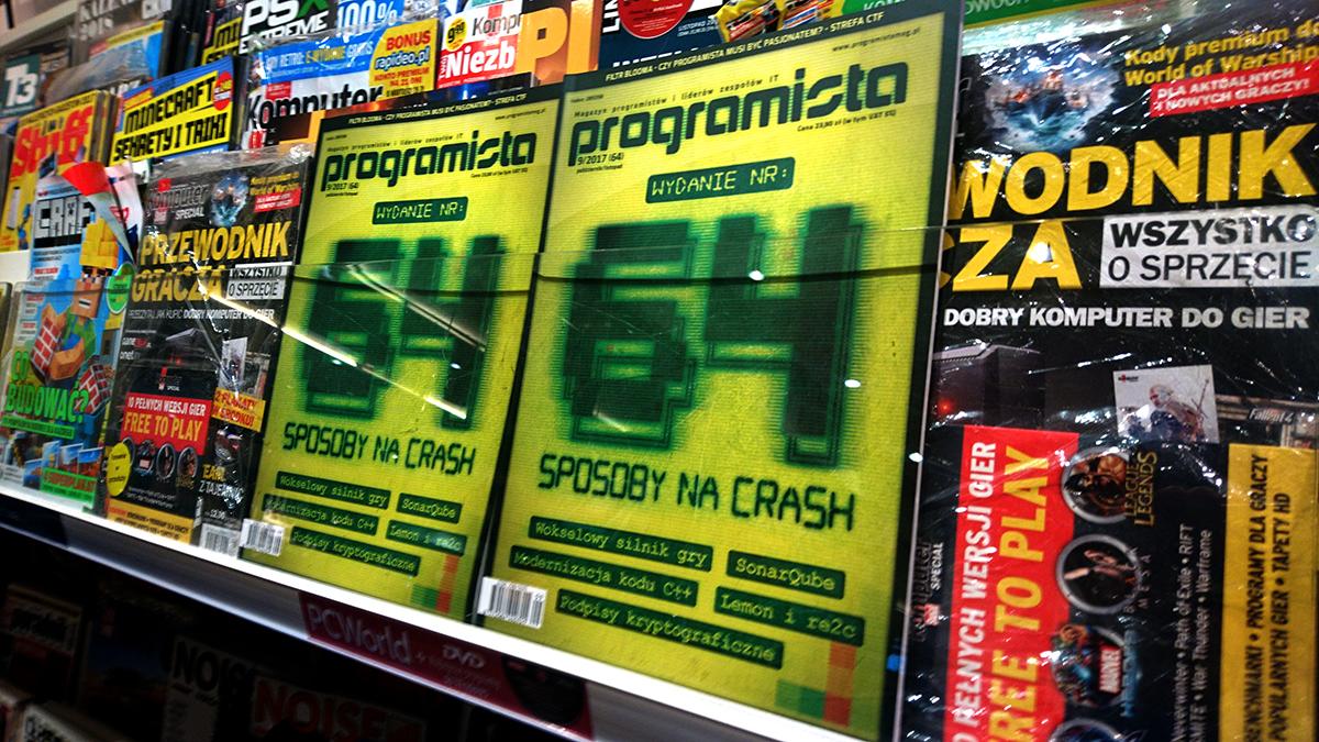 """Okrągłe, bo 64 wydanie miesięcznika """"Programista"""", a w nim..."""