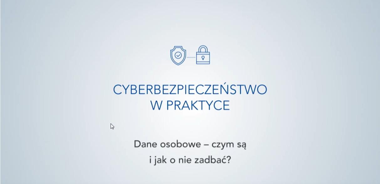 """Warszawski Instytut Bankowości, """"Cyberbezpieczeństwo w praktyce"""" odc. 1 ‒ """"Dane osobowe ‒ czym są i jak o nie zadbać?"""""""