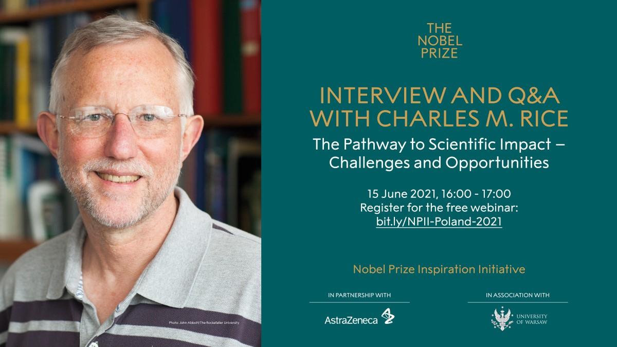 Wirtualne spotkanie z noblistą, Charlesem M. Rice'm